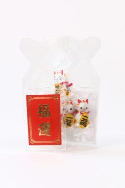 福運チョコ玉招き猫