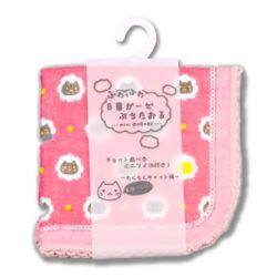 8重ガーゼ/もくもくキャット・ピンク